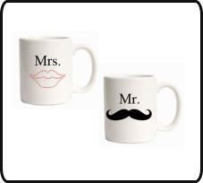 marriage gifts, gift for couples, anniversary gifts, gifts for mr and mrs, mr and mrs coffee mugs